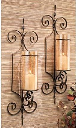 Home Essentials 64577 Wall Sconce Bristol Set of 2 Gold Gift