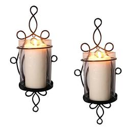 Raphael Rozen Modern Glass Sconce Set: 2 Piece Wall Mounted
