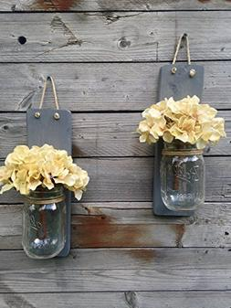 Tennessee Wicks Handcrafted Rustic Weathered Gray Mason Jar