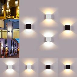 6W LED Wall Lamp Modern Up Down Sconce Lighting Fixture Cube