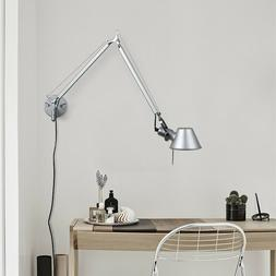 Adjustable Modern Long Swing Arm Wall Lamp Plug-In Wall Scon