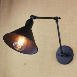 Adjustable Swing Arm Industrial Wall Light Sconce Barn Lamp