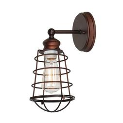 Design House Ajax Collection 1-Light Textured Coffee Bronze
