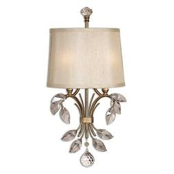 Uttermost Alenya 2 Light Metal Wall Sconce in Burnished Gold