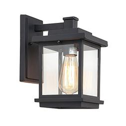 LALUZ Rustic Outdoor Wall Light Hanging Lantern Sconces for
