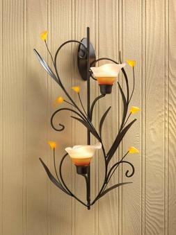 "Amber Lilies Candle Wall Sconce ""Simple Yet Elegant"""