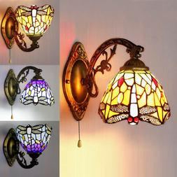 Stained Glass LED Wall Sconce Single Lamp Tiffany Indoors Wa