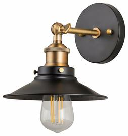 Andante LED Industrial Wall Sconce Fixture - Antique Brass -
