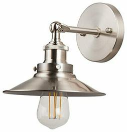 Andante LED Industrial Wall Sconce Fixture - Brushed