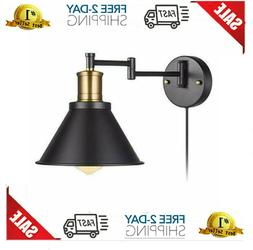 ArcoMead Swing Arm Wall Lamp Plug-in Cord Industrial Wall Sc