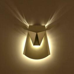 Artistic 3W LED Wall Sconce Origami Deer Aluminum Wall Light