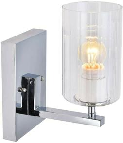 Bathroom Vanity Light Fixture Modern Sconce Wall Glass Brush