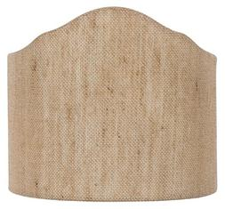 Upgradelights Natural Beige Linen Wall Sconce Shield Clip on
