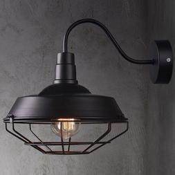 Big Wall Sconce Light Lamp Cage Vintage Iron Outdoor Barn Go
