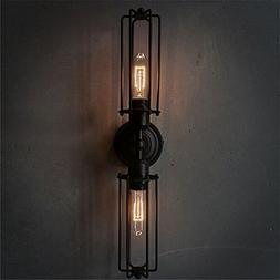 NAVIMC Black Antique Wrought Iron Wall Sconces Light Bedside