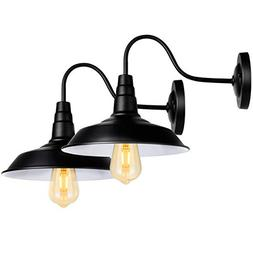 Black Wall Sconce Lighting Wall Lamp Gooseneck Barn Lights I
