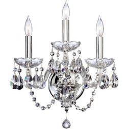 Quorum Bohemian Katerina 3 Light Wall Bracket, Chrome - 631-