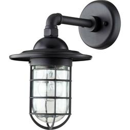 "Quorum Bowery 1 Light 7.5"" Wall Mount, Noir - 7082-69"