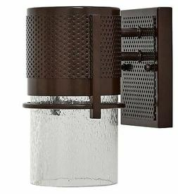 Bronze Outdoor Transitional Glass Wall Sconce | Modern and R