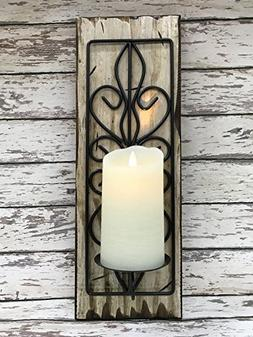 candle holder sconce metal wall