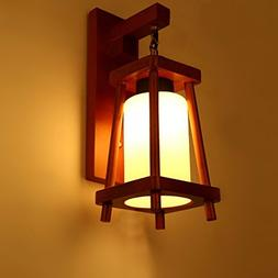 Chinese Wood Wall lamp Retro Cafe Restaurant Pub Dining Room