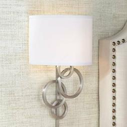Possini Euro Design Circles Plug-In Wall Sconce