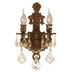 clearance versailles 2 light gold finish golden