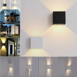 COB LED Wall Light 12W Modern Up Down Cube Indoor Outdoor Sc