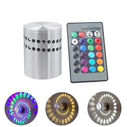 Rambling Colorful 3W RGB Remote Control Spiral Hole Wall Lam