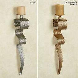 Contemporary Metal Wall Sconce Candle Holder Modern Art Deco