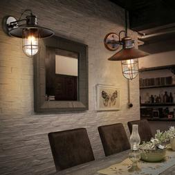 Country Style Industrial Wall Sconce Light Edison Lamp Iron