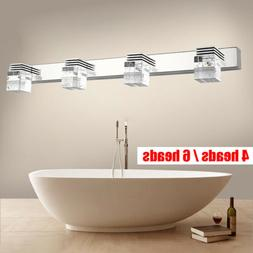 Cube Crystal LED Lamp Wall Sconces Mirror Front Light Fixtur