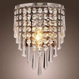 crystal strands cascading mini wall sconce indoor