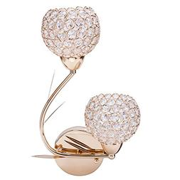 Lightess Crystal Wall Sconce Lighting for Bathroom Home Scon