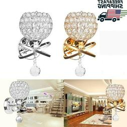 Crystal Wall Sconces Chrome Finish Modern Luxury LED Wall Li