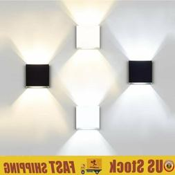 cube led wall lights modern up down