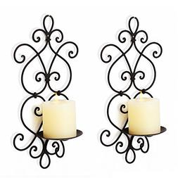 Adeco Decorative Iron Vertical Candle Tealight Pillar Holder