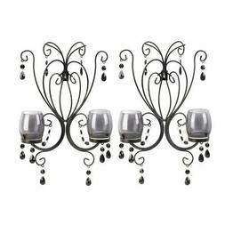 Decorative Wall Sconce, Midnight Elegance Candle Modern Wall