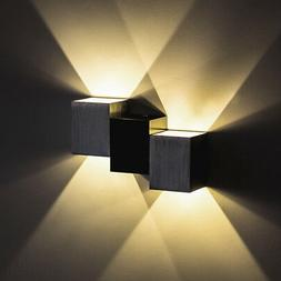 Dimmable 2W LED Wall Sconce Light Fixture Stairway Up/Down L