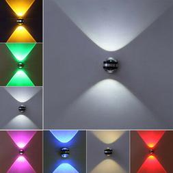 Dimmable/N 2W LED Wall Sconces Light Fixture Crystal Lamp Up
