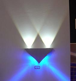 LUMINTURS 4W Dimmable Triangle LED Wall Sconce Night Indoor