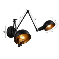 Double Head Adjustable Long Swing Arm Wall Light Industrial