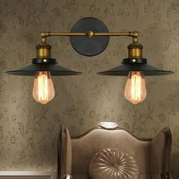 Double Light Antique Metal Wall Sconce Loft Hallway Wall Lig