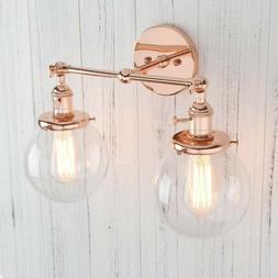 Double Sconce Vintage Industrial Antique 2-Lights Wall Sconc