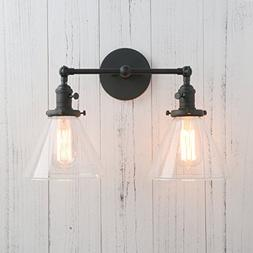 Permo Double Sconce Vintage Industrial Antique 2-Lights Wall