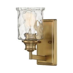 Designers Fountain Drake 1 Light Wall Sconce, Brushed Gold -