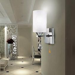 Elitlife E27 Modern style Wall Light Lamp White Glass Cover