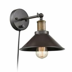 Industrial Hardwired & Plug-in Wall Sconce Light CLAXY Vinta