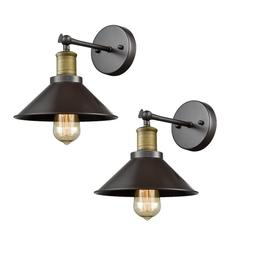 CLAXY Ecopower Industrial LED Simplicity Wall Sconce 2 Pack,