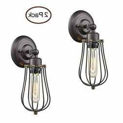 Ecopower Light Wire Cage Wall Sconce 2 Pack CLAXY 2 Pack, Oi